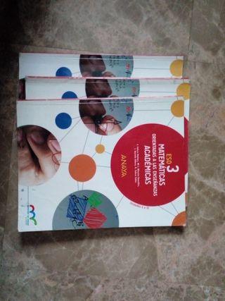 libro de matemáticas 3eso