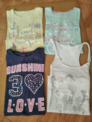 Camisetas talla 13-14 Manga corta LOTE