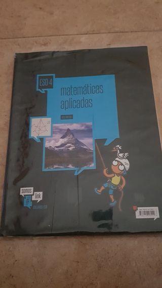 libro matemáticas, 4° eso