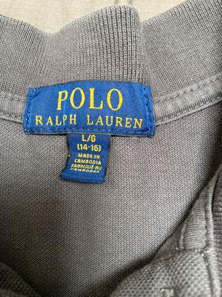 Polo gris Ralph Lauren niño
