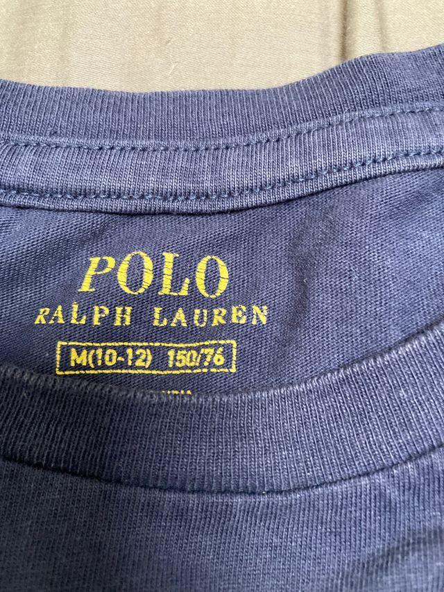 Camiseta azul marino Polo Ralph Lauren Niños