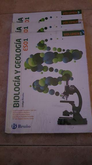 libros de biología y geología 1° Eso