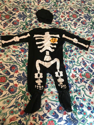 Disfraz halloween esqueleto bebe 6-12 meses