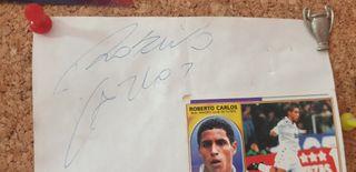 Firma original de Roberto Carlos