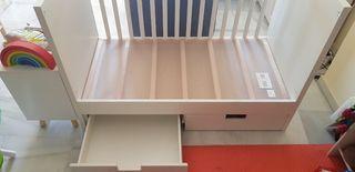 Cuna Stuva Ikea con cajones 60x120
