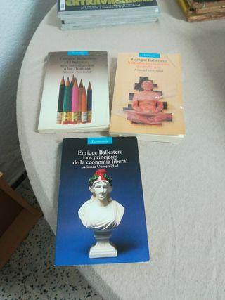 libros de economía. Enrique Ballestero.