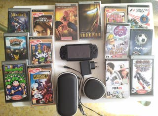 PSP 3000, fundas, juegos...