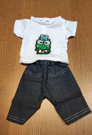 Conjunto de camiseta y pantalón vaquero muñecos