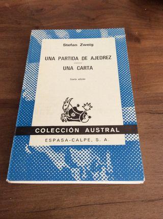 Libro de ajedrez de Stefan Zweig