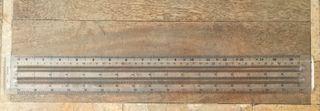 Règle 2 Centres évidés 430 mm Minerva 1163