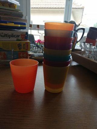 Vasos plástico multicolores