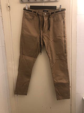 Pantalón slim cropped