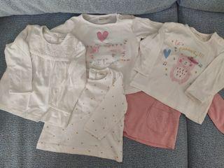 Lote camisetas bebé niña