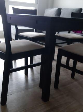 mesa + 4 sillas