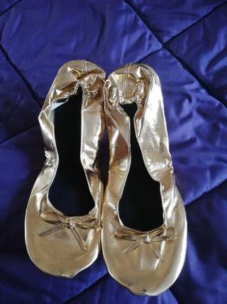 bailarinas doradas nuevas sin estrenar talla 39