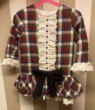 Vestido niña cuadros T. 3 años
