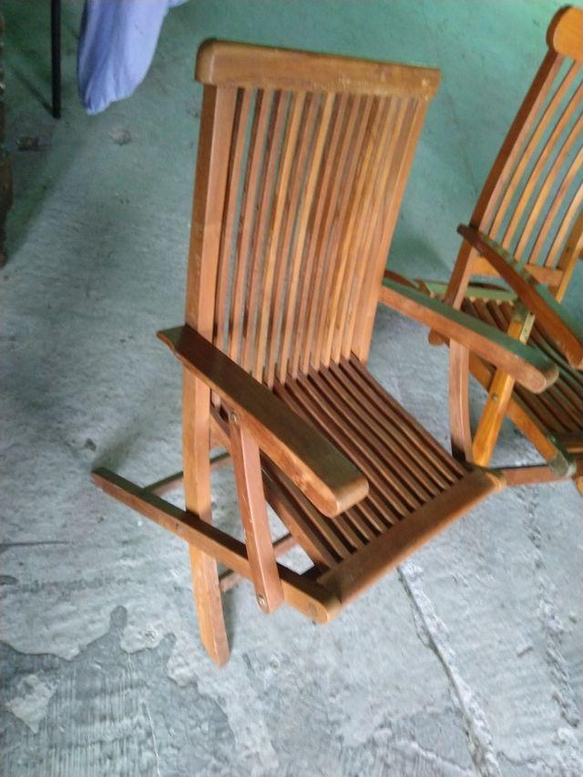004 2 sillas de jardín Teka.