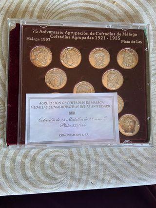 Medallas conmemorativas 75 aniversario malaga 1997