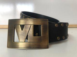 Cinturón de cuero negro Victorio & Lucchino