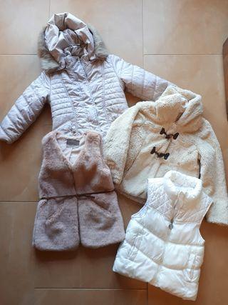 Lote ropa abrigo niña talla 6