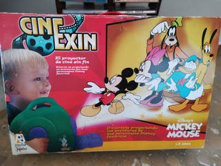 antiguo cine exin proyector juguete mickey mouse