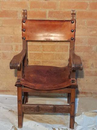 Silla barroco antigua