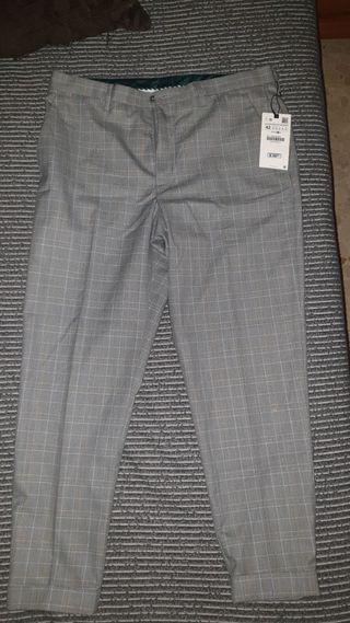 Pantalones pinza chinos Zara hombre talla 42