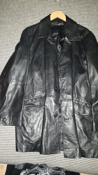 Abrigo largo piel hombre Cortefiel