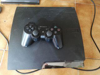 PS3 completa, con mando, volante y pedales