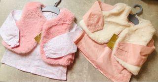 Lote,2 camisas+2 chalecos niña 2/3 años nuevo