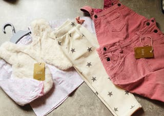 Camisa chaleco+mameluco +pantalón niñaT12:18 meses