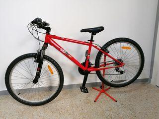 "Bicicleta infantil Mountain-bike 24 ""Rockrider."