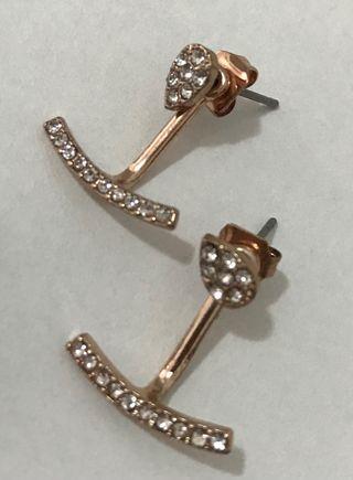 Pendientes + anillos Rose Gold