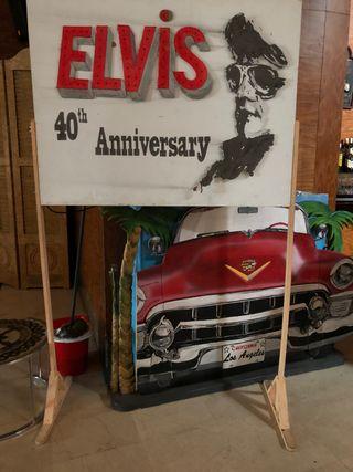Vendó cartel Elvis