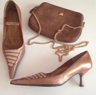 Zapatos cuero marrón Gino Vaello