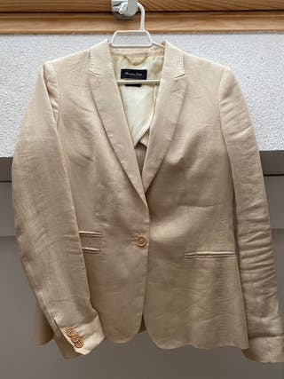 Americana lino Massimo Dutti