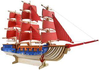 Puzzles Jigsaw Vela Barco Láser Corte 3D