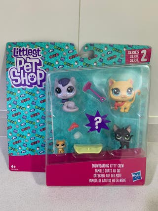 Pet Shop Littlest - Familia gatos nieve (NUEVO)
