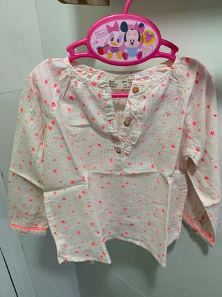 Camisa Zara BabyGirl con bordados (T: 18-24 m)