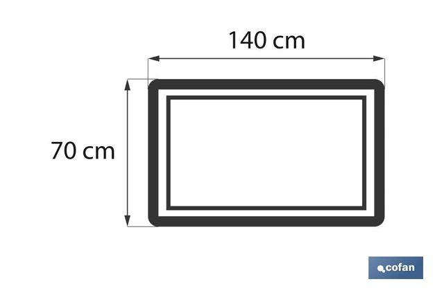 TOALLA DUCHA ORANGE GR.580/M2 MOD.AMANECER 70X140c