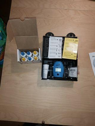 Medidor cloro HANNA + caja líquidos gratis