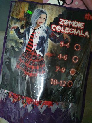 disfraz zombie colegiala