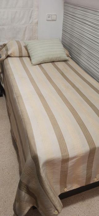 cama individual con canapé y colchón