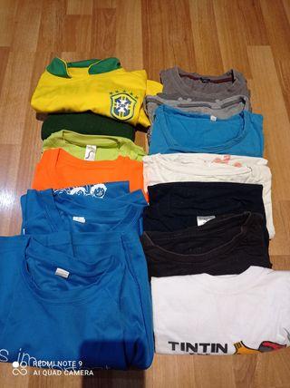 camisetas manga corta. talla de 8 a 12