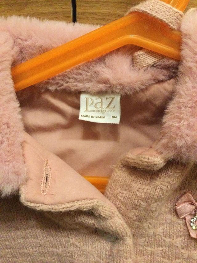 Abrigo con capota Paz Rodríguez talla 9 meses