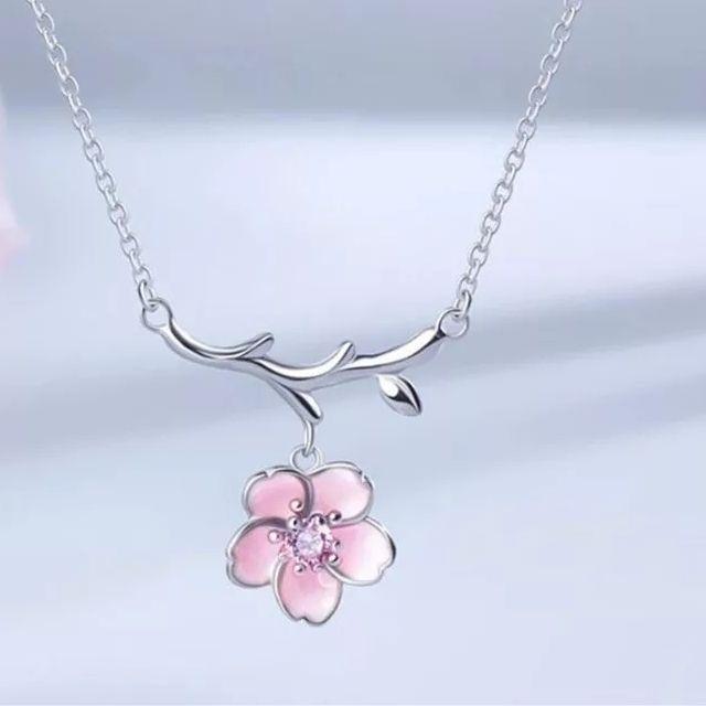 2020 New 925S.S Simple Temperament Pink Cherry
