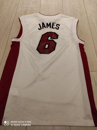 Peto camiseta Oficial NBA Miami heat james
