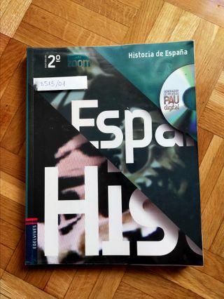 Libro de Historia de España 2 bachillerato