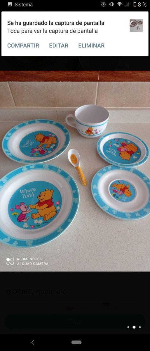 vajillas de Winnie the pooh