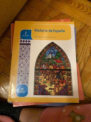 Libro Historia de España 2 Bachillerato.